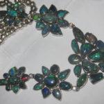 handmade opal necklaces,opal necklace,black opal necklace