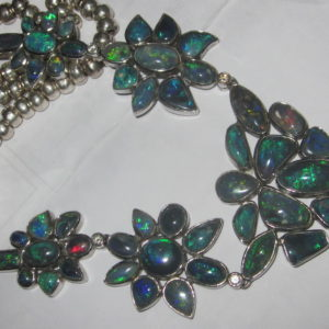 handmade opal necklaces,opal necklace,black opal necklace