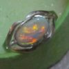 silver opal rings,australian opal ring