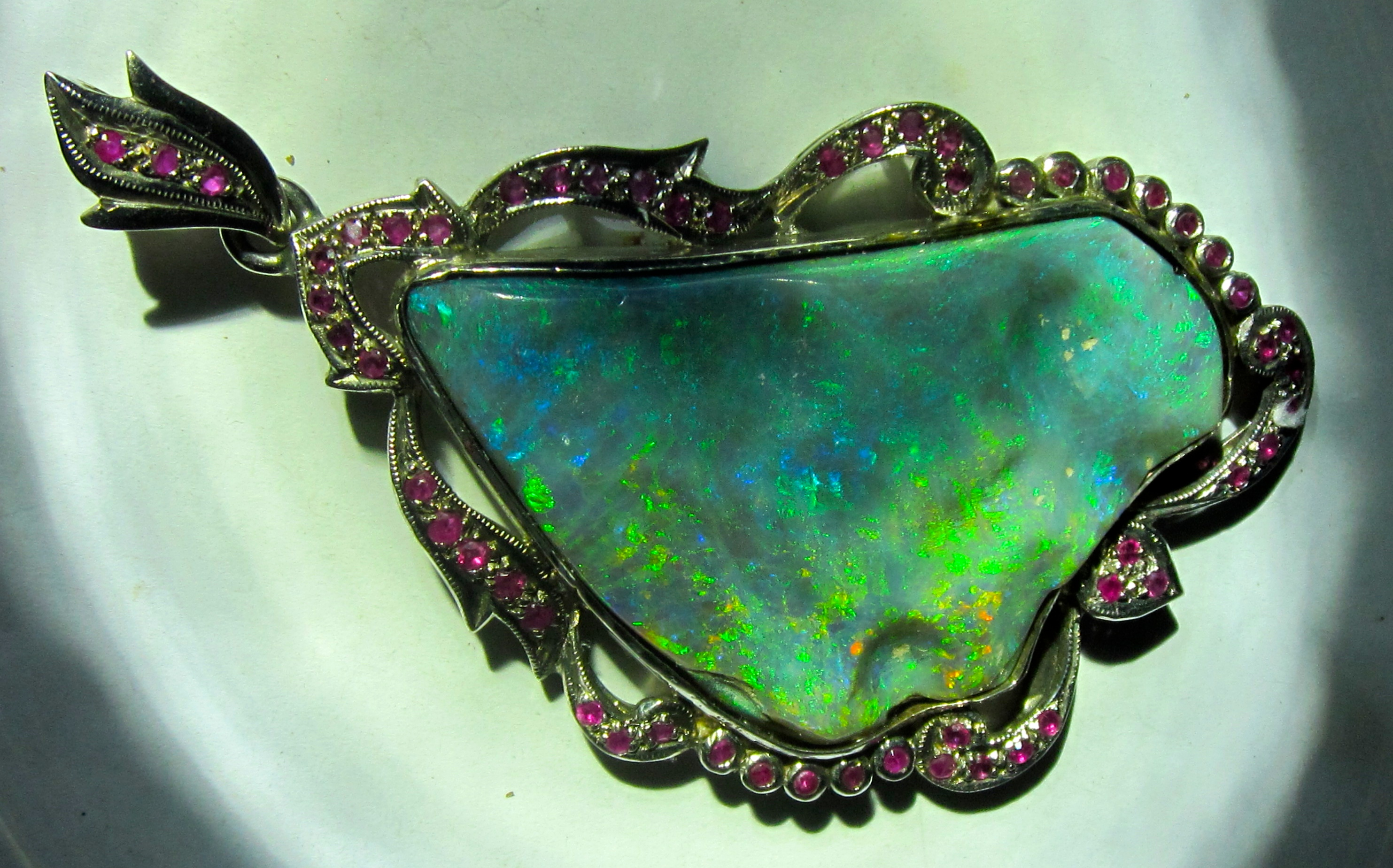 handcrafted opal pendant