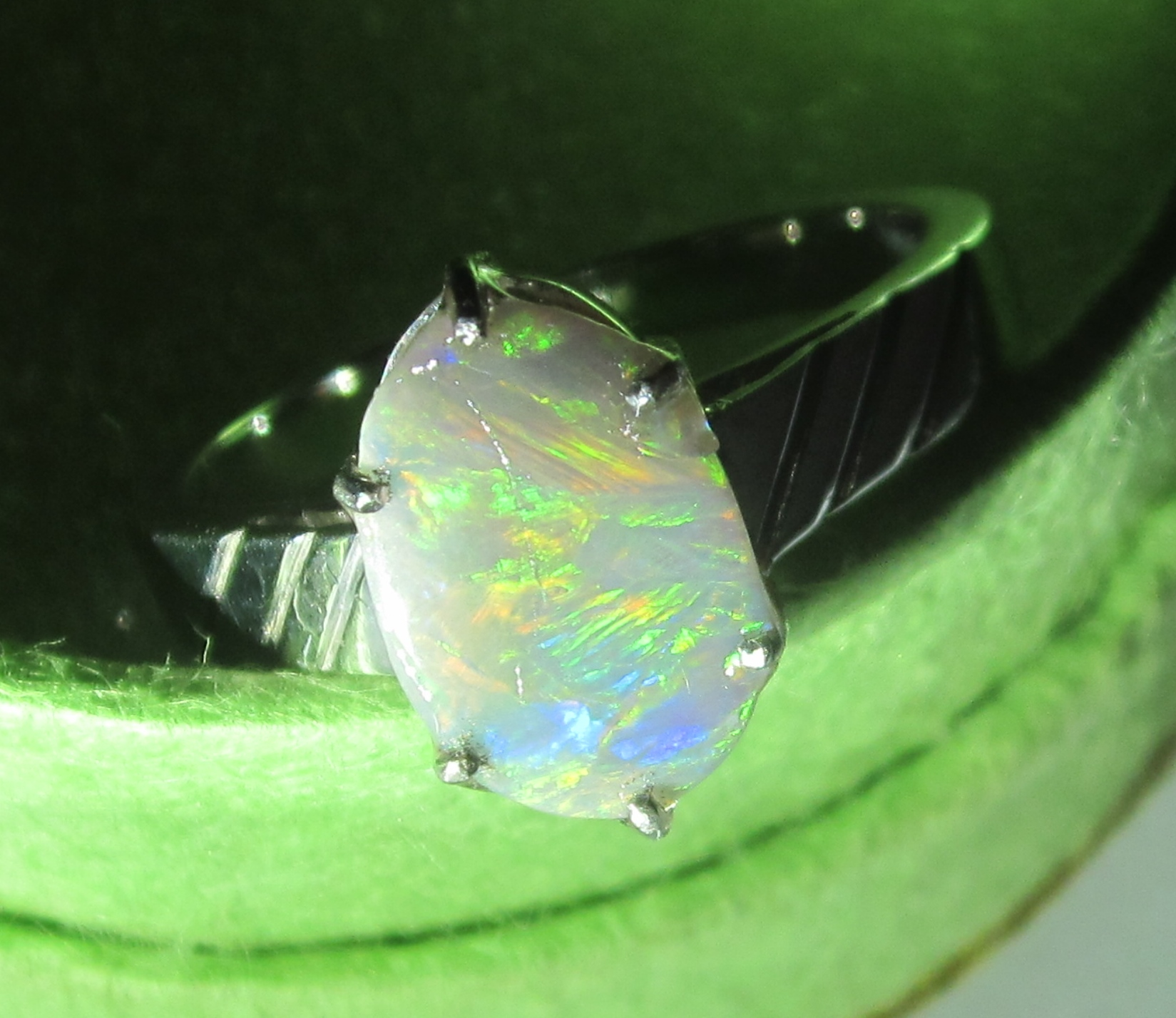 handcrafted opal rings