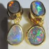 earrings opals,black opal earrings, opal earrings