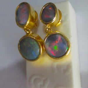 opal earings,opal earrings