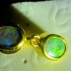 black opal earring