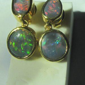 opal earings,opal earrings,black opal earings