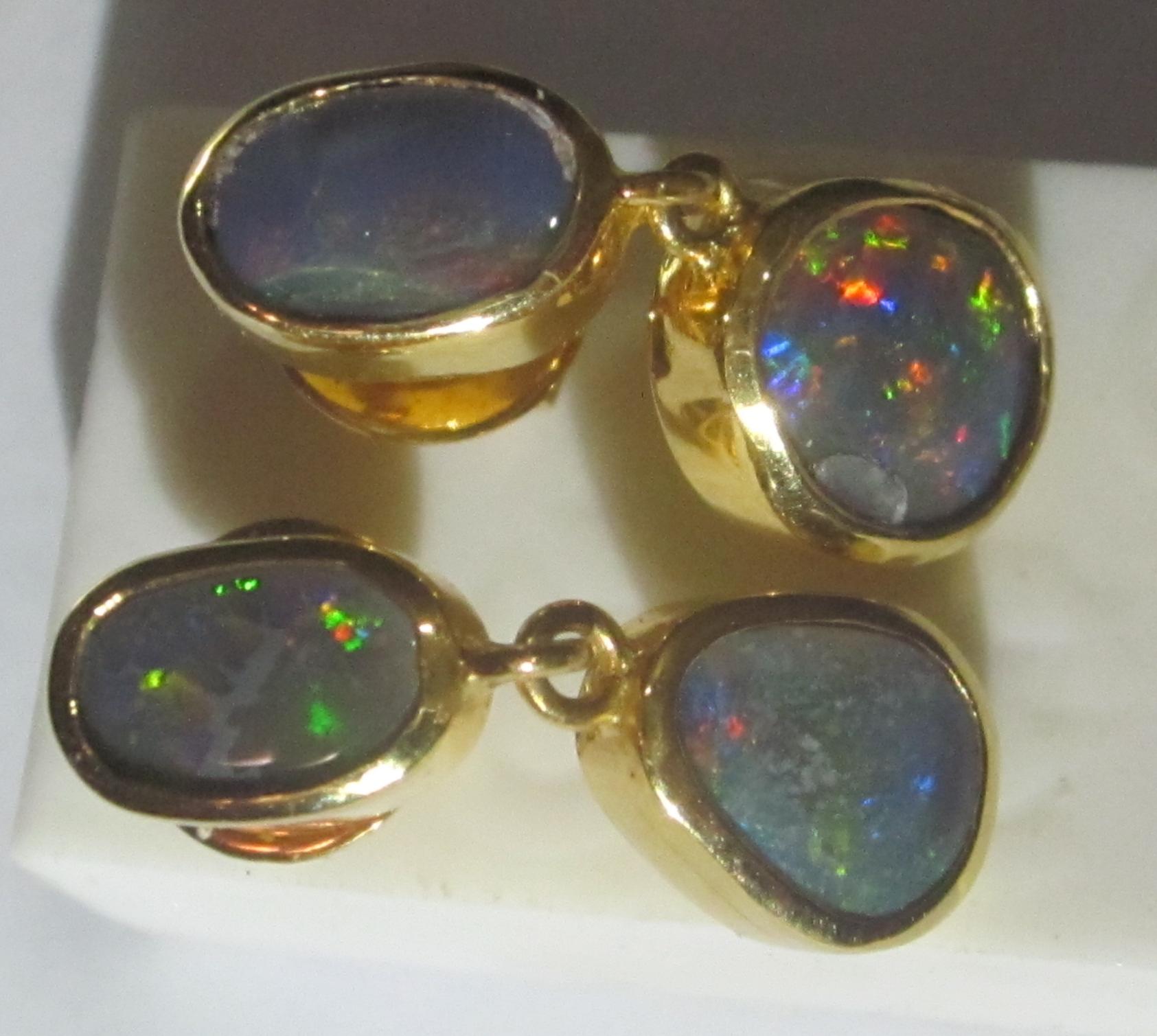 earrings opalsblack opal earringshandmade earringsopal