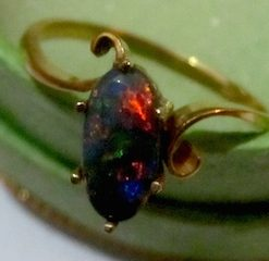 Handcrafted Black Opal Rings.