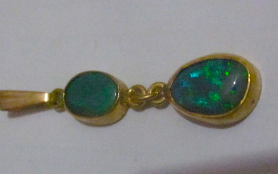Handmade Opal Jewelry From Most Famous Opal location In Australia 18 ^ Gold & Black Opals.