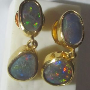 earrings opals,black opal earrings,opal earrings