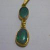 pendant gold black opals,opal pendant