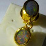 male opal earring,mans opal earring
