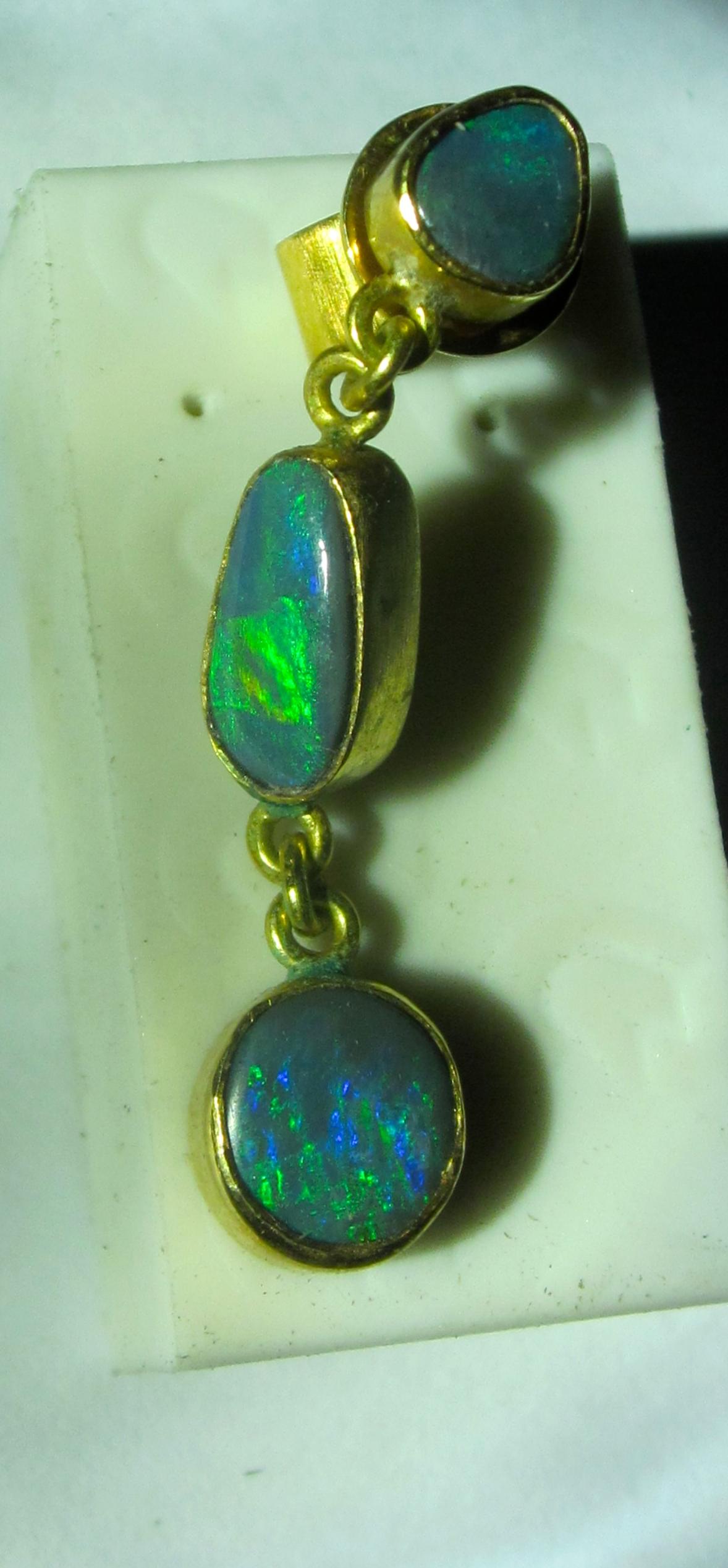 mens opal earring