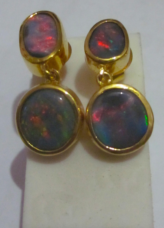 opal earings black opal earings opal earings and