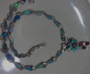 opal necklace handcrafted,opal necklace