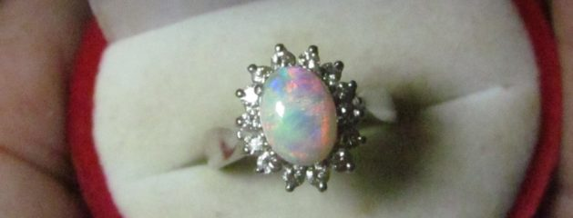 Opal Ring Handcrafted.