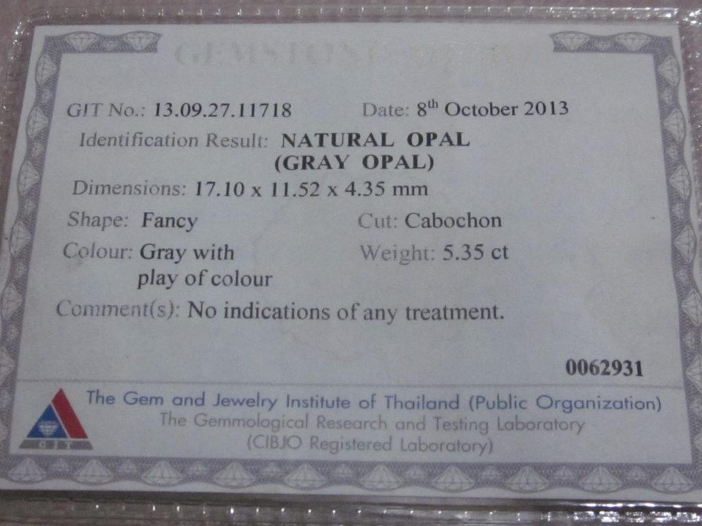 certificate black opals,black opal certificate,gemstone opal testing,opal testing,gem lab testing services,gemstone testing certificate, document proof solid opal