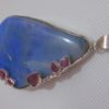 blue opal pendant,blue opal necklace