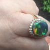 opal diamonds rings,opal rings