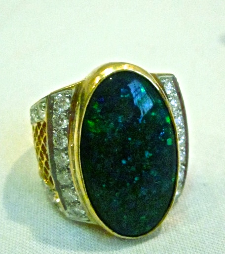 ring opal handmade,handmade opal ring,opal rings,black opal rings