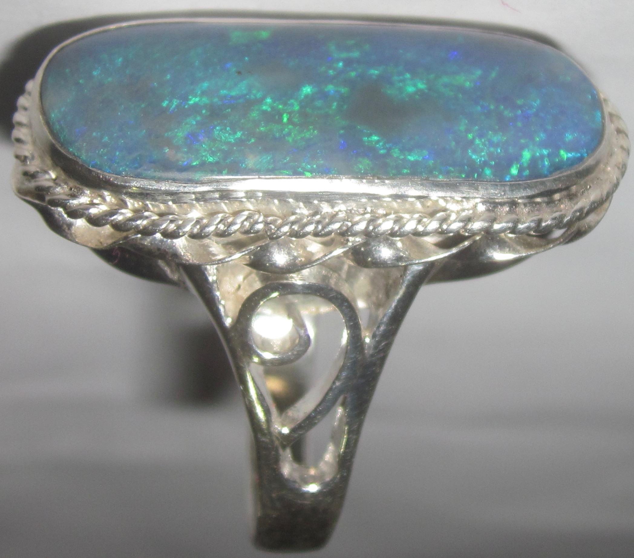 black opal ring,opal ring,black opal jewellery,australian opal ring