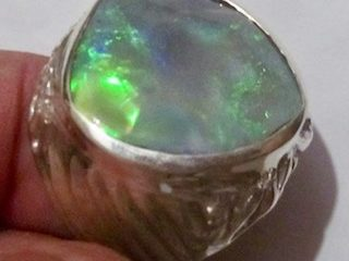 Opal Ring Handmade Jewellery.