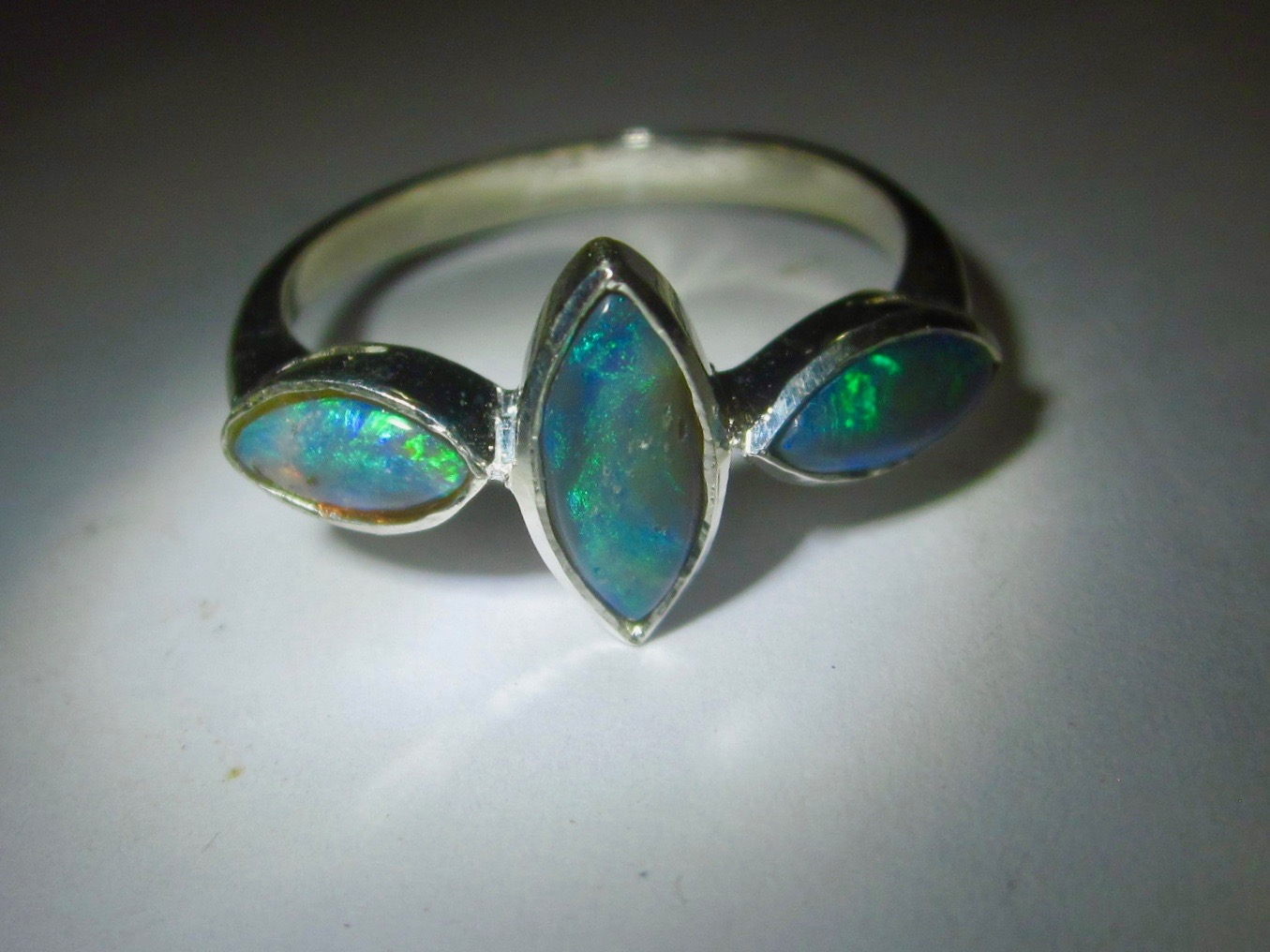 birthstone sterling band ring october rings white jewelry opal silver bling inlay