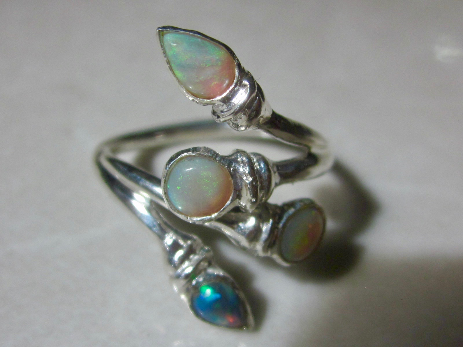 accents created october opal sterling silver rings with ring birthstone diamond