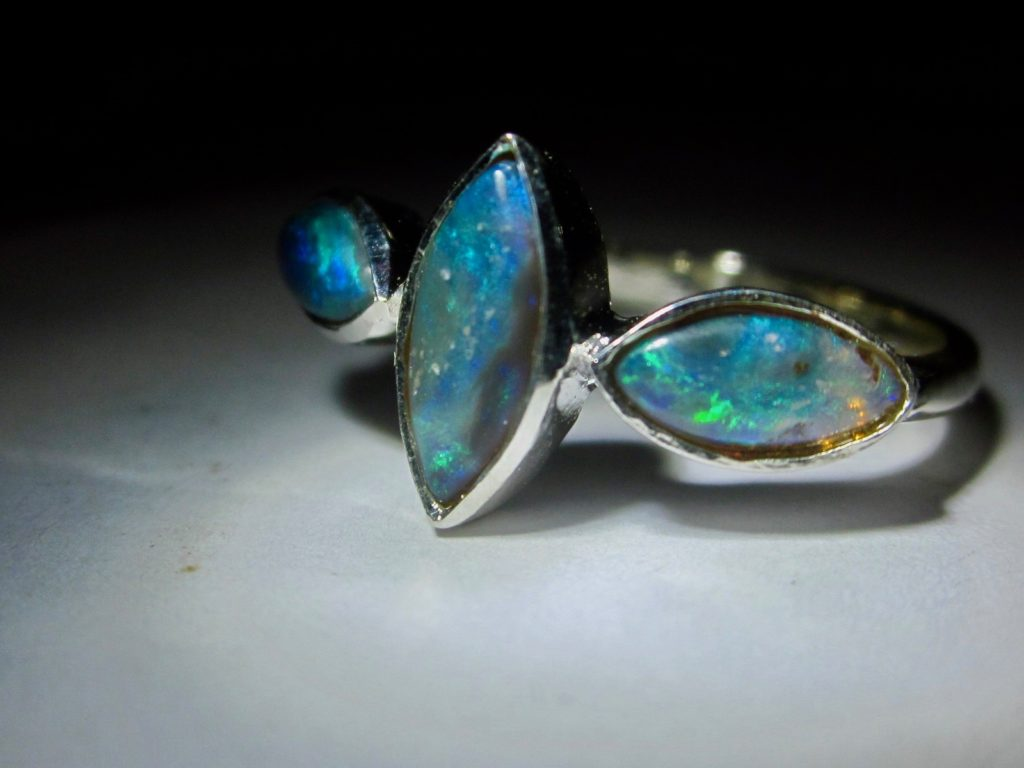 opal ring, october rings,october birthstone ring