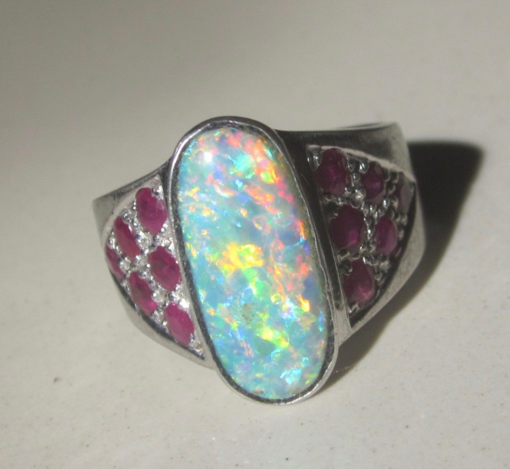 Ring Opals With Only Australian Opal Gemstones Guaranteed