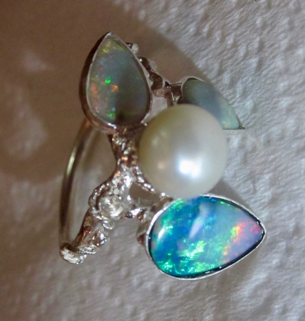 rings, opals, pearls