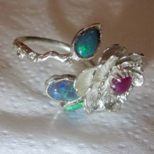 ring opal,opal ring,black opal rings