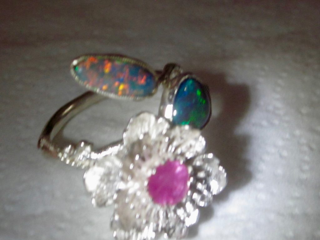 opal ring,ring with opals,opal rings