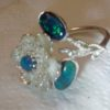 opal ring,opal rings,black opal ring