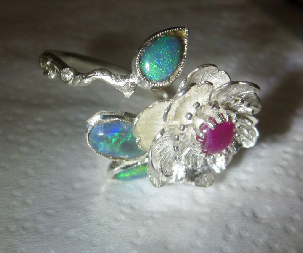 ring opal,opal ring,black opal rings