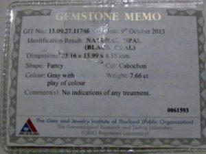 Image opal certificate