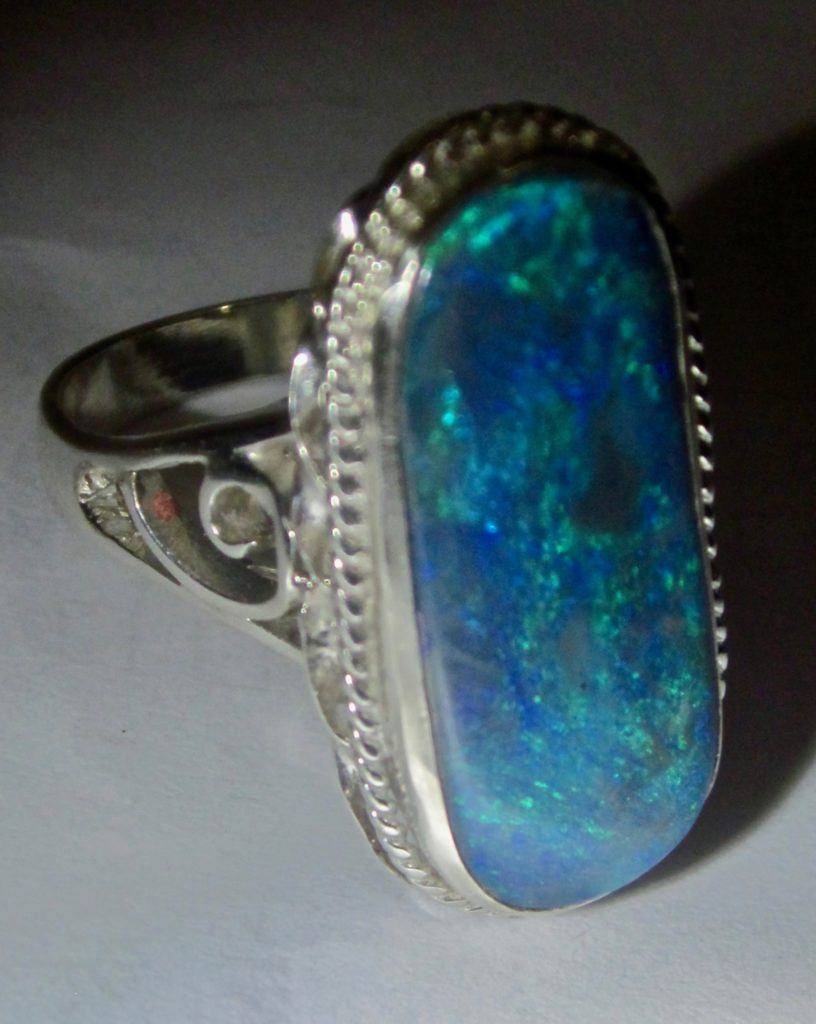 opal ring,ring with opal,ring opal
