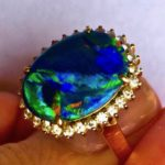 opal ring,ring opal gem