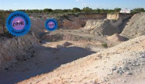 Famous opal mine in Australia at Lightning Ridge.