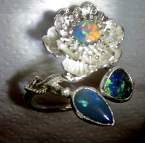 colour opal ring
